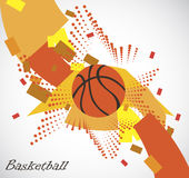 Abstract basketball playfield with star Stock Photos