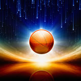 Abstract basketball Stock Image