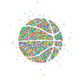 Abstract basketbalpictogram Royalty-vrije Stock Fotografie