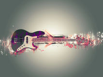 Abstract Bass Guitar. Abstract Electric Bass Guitar Illustration Vector Illustration
