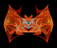 Abstract bat. On black background, suitable for Halloween night, isolated illustration Stock Image