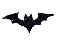 Free Abstract Bat Of Black Glitter. Festive Halloween Symbol, Icon Royalty Free Stock Photo - 77537815