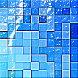Abstract bathroom's tiles blue Royalty Free Stock Images