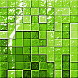 Abstract bathroom's tiles gree Stock Photos