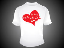 Abstract be my valentine tshirt Stock Photos