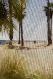 Abstract Beach Shot Through Window Screen Stock Photo
