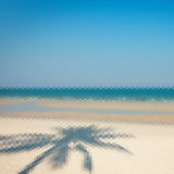 Abstract beach triangular pattern Stock Image