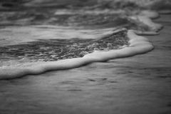 Abstract beach. Wave foam is abstract color black and white royalty free stock image