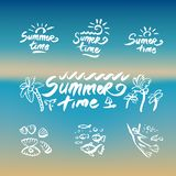 Abstract beach waves design on the theme of summer delights concept organization of beach parties and vector logo design vector illustration