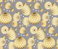 Abstract beads seamless pattern in gold xmas color.  Concept Stock Photography