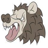 Abstract Bear Face. An image of an angry bear face vector illustration