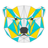 Abstract bear  on white background. polygonal triangle g Stock Image