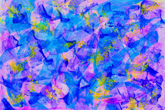 Abstract beautiful art colorful graffiti, hand drawn paint splash background, bright blue and purple colors, stylish Royalty Free Stock Photo