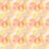 Abstract beautiful artistic tender wonderful transparent bright autumn orange yellow red circles different shapes pattern watercol. Or hand illustration. Perfect royalty free illustration
