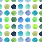 Abstract beautiful artistic tender wonderful transparent bright blue green herbal navy indigo, turquoise, ultramarine circles hori Stock Photos