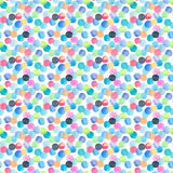 Abstract beautiful artistic tender wonderful transparent bright blue, green, red, pink, yellow, orange, navy circles pattern water. Color hand sketch Stock Images