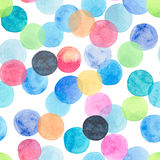 Abstract beautiful artistic tender wonderful transparent bright blue, green, red, pink, yellow, orange, navy circles pattern water. Color hand sketch royalty free illustration