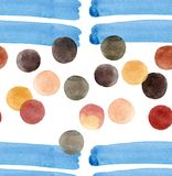 Abstract beautiful artistic tender wonderful transparent bright colorful circles with big blue lines pattern watercolor. Hand illustration Vector Illustration