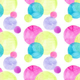 Abstract beautiful artistic tender wonderful transparent bright colorful circles different shapes pattern watercolor. Hand sketch Stock Photo