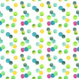 Abstract beautiful artistic tender wonderful transparent bright colorful circles pattern watercolor hand illustration Royalty Free Stock Photography