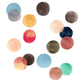Abstract beautiful artistic tender wonderful transparent bright colorful circles pattern watercolor hand illustration Royalty Free Stock Photos
