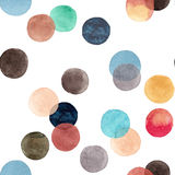 Abstract beautiful artistic tender wonderful transparent bright colorful circles pattern watercolor hand illustration Royalty Free Stock Photo