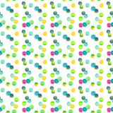Abstract beautiful artistic tender wonderful transparent bright green circles pattern watercolor hand illustration Royalty Free Stock Photography