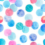 Abstract beautiful artistic tender wonderful transparent bright colorful circles pattern watercolor hand sketch Royalty Free Stock Photos