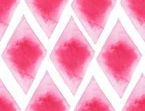 Abstract beautiful artistic tender wonderful transparent bright red pink different shapes pattern watercolor hand illustration royalty free illustration