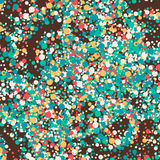 Abstract beautiful background. Color dots on brown background vector illustration