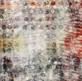 Abstract beautiful background in the style of mixed media. With chaotic ornament Stock Image