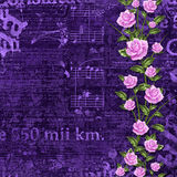 Abstract beautiful background in the style of mixed media. With floral ornament, words and  figures Royalty Free Stock Photography