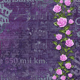 Abstract beautiful background in the style of mixed media. With floral ornament, words and  figures Stock Photos