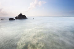 Abstract of the beautiful beach in Bali, Indonesia. Stock Image