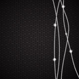 Abstract beautiful black diamond background vector Stock Image