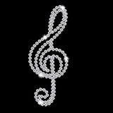 Abstract beautiful black Diamond Music Note vector Royalty Free Stock Photo