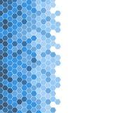 Abstract beautiful blue hexagonal tile mosaic pattern background. Abstract beautiful blue hexagonal tile mosaic, half on white background, Futuristic, technology royalty free illustration