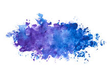Abstract beautiful blue indigo color / violet watercolor painted background. Blue  / violet watercolors abstract painted on real paper, can be used as a Royalty Free Stock Image