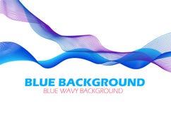 Abstract beautiful blue modern waving background