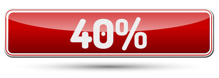 40% - Abstract beautiful button with text. Royalty Free Stock Photo
