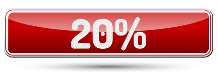 20% - Abstract beautiful button with text. Royalty Free Stock Photo