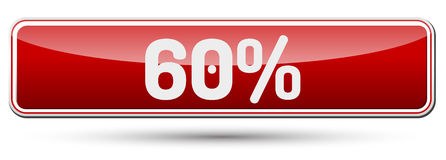 60% - Abstract beautiful button with text. Stock Photos