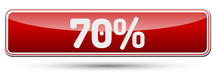 70% - Abstract beautiful button with text. 70% - Abstract beautiful button with text Royalty Free Stock Images