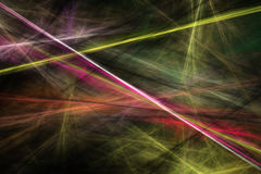 Abstract beautiful colorful lines background. Abstract fractal beautiful colorful lines on black background Stock Images