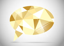 Abstract beautiful diamond speech bubble vector Royalty Free Stock Photography