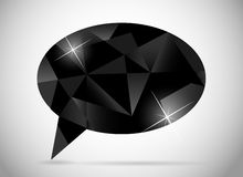 Abstract beautiful diamond speech bubble vector Stock Photos