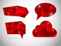 Abstract beautiful diamond speech bubble vector Royalty Free Stock Images