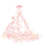 Abstract Beautiful floral bride Stock Photo