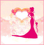 Abstract Beautiful floral bride Stock Photography