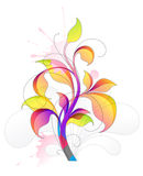 Abstract with beautiful flower. And design elements Stock Illustration
